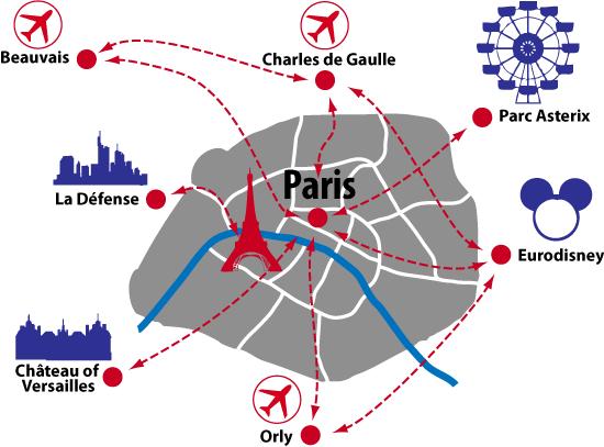 Map Paris Airports ~ BOTE1UM