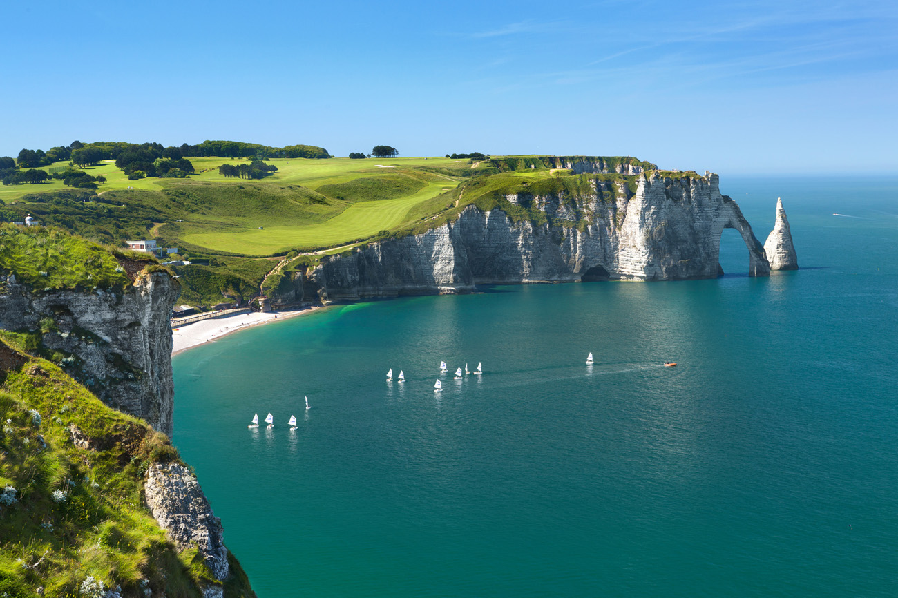 Our Chaufeur service to Normandy Etretat Rocky Cliffs