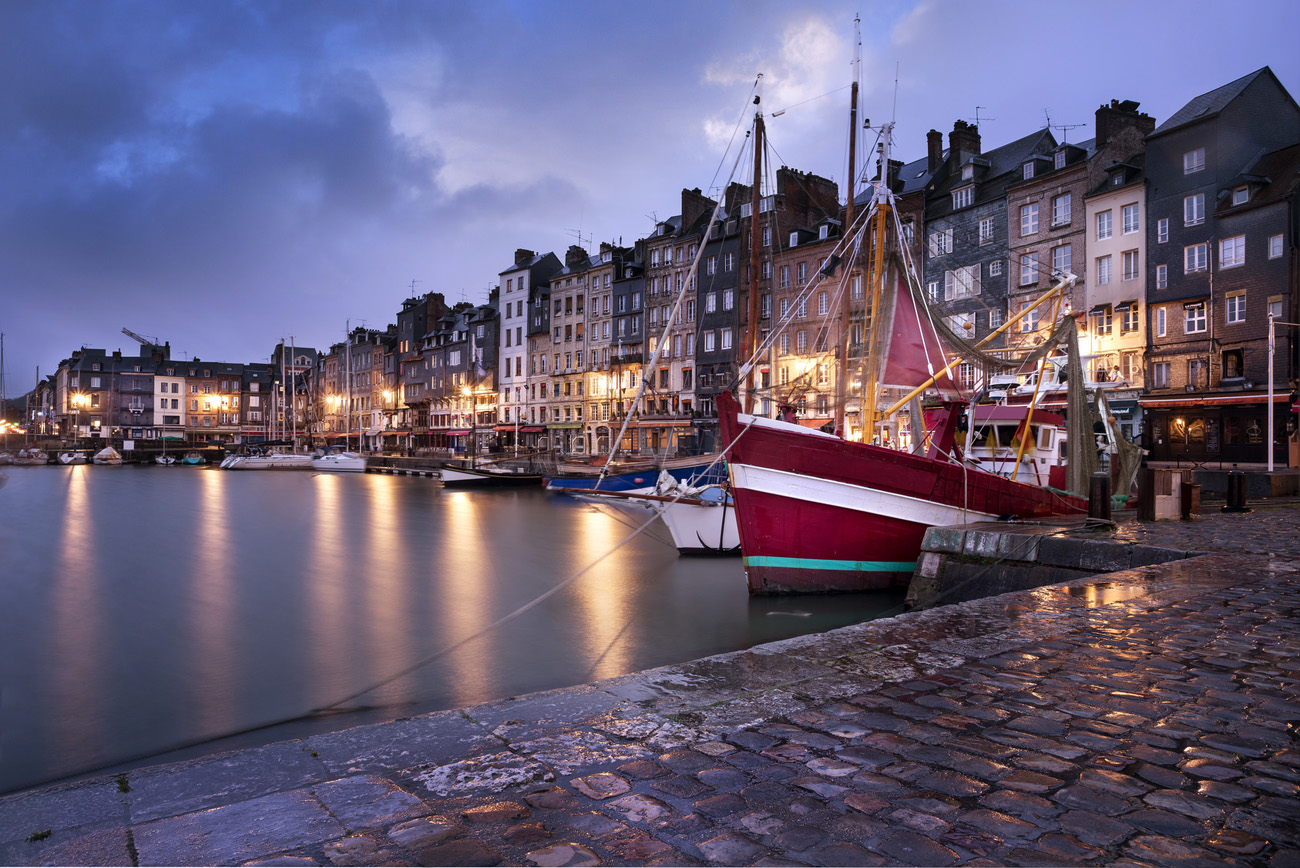 Honfleur sea port in the evening