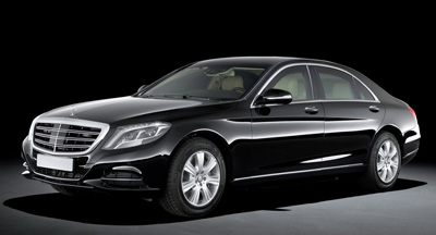 Mercedes Class S350 with private chauffeur in Paris