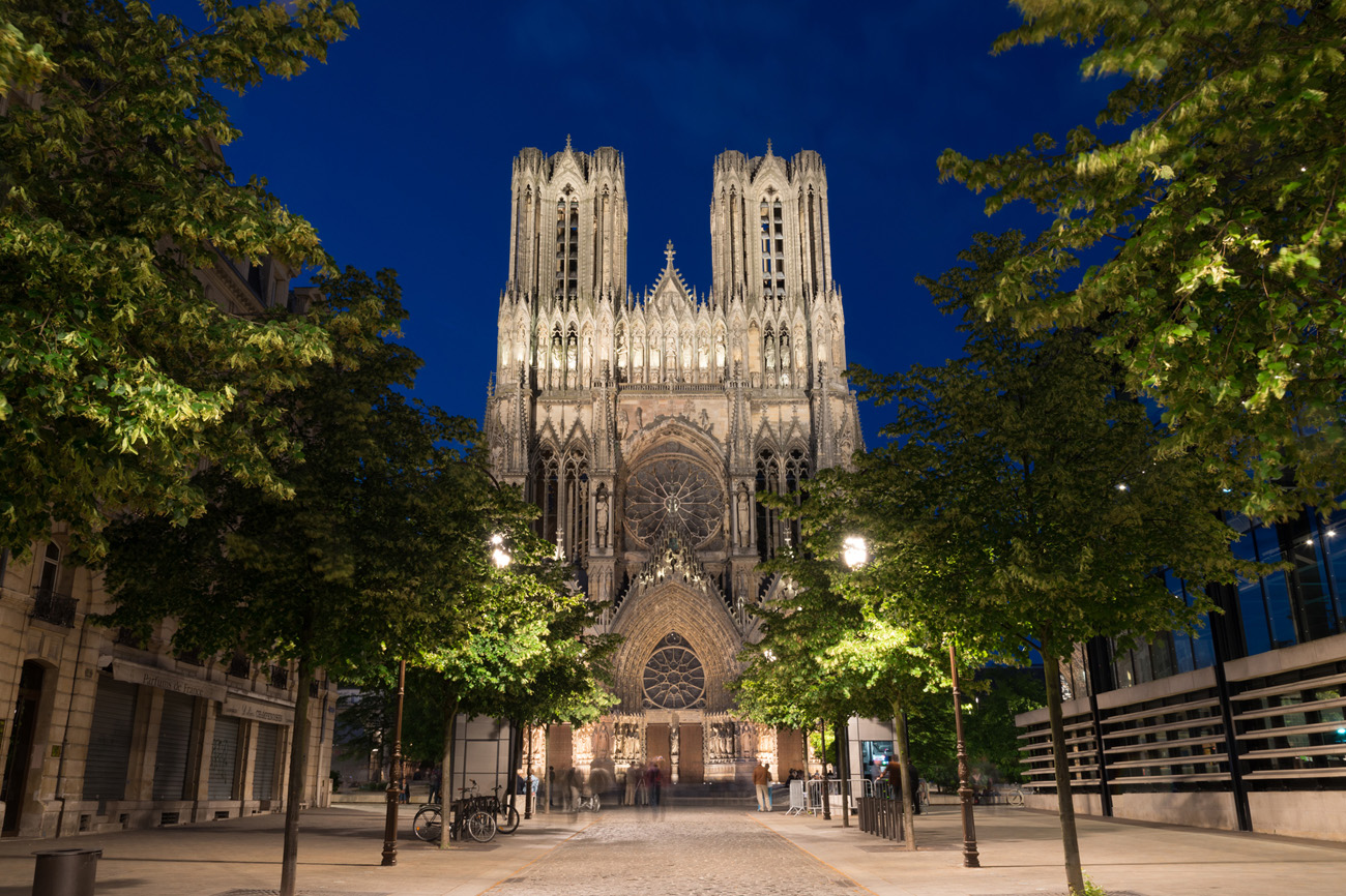 Reims Gothic Catholic Cathedral