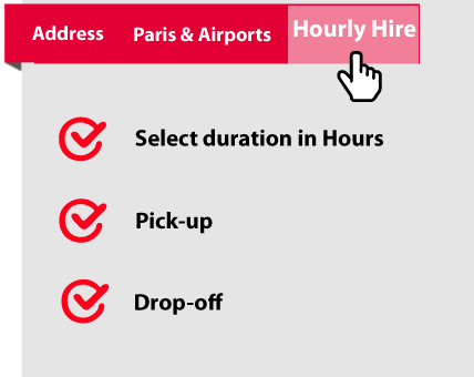 Select duration, pick-up and drop-off for your Paris city tour